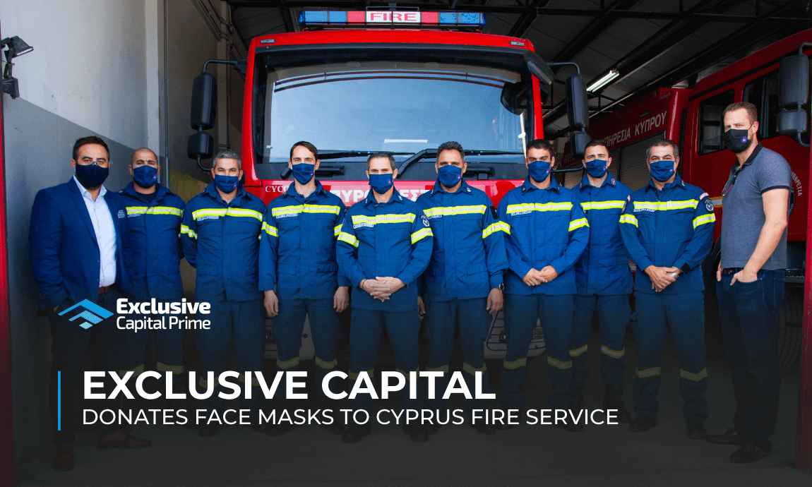 Exclusive Capital donates face masks to Cyprus Fire Service