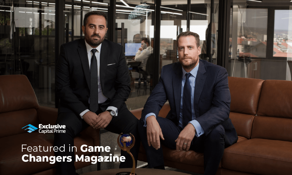 "Exclusive Capital's management team proud to be featured in the ""Game Changers Magazine"""