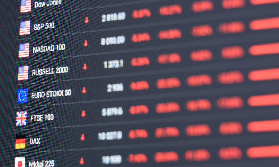 Global tech stocks post heavy losses on rising Treasury yields