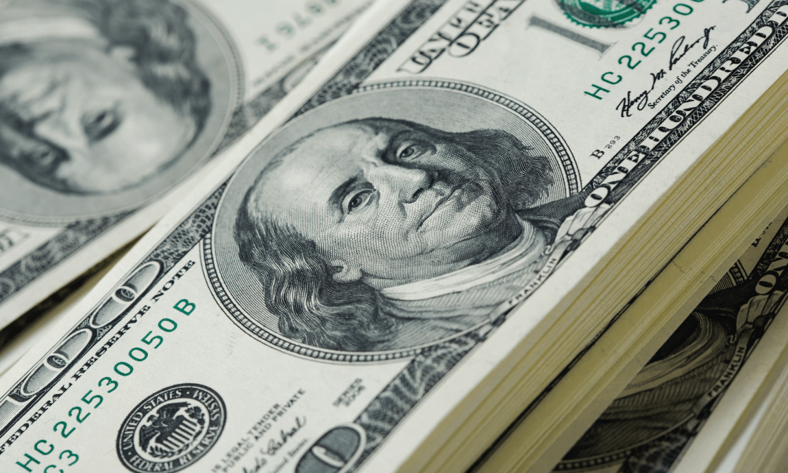 US dollar falls to 5-month lows as inflation fears eased