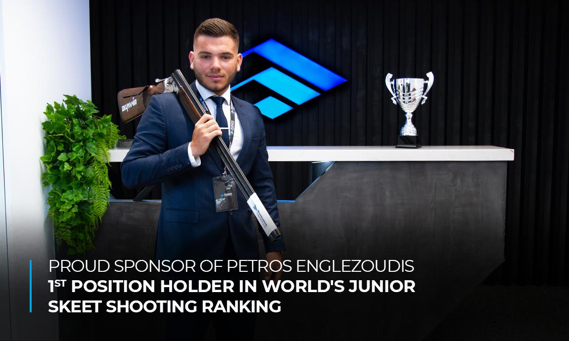 Proud Sponsor of Petros Englezoudis – 1st position holder in World's Junior Skeet Shooting Ranking
